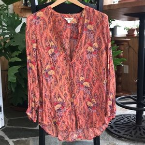 Fun flower blouse by Lucky Brand